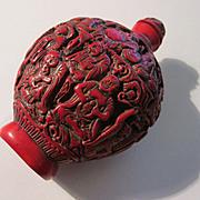 The 18 Arhat Wise Men Red Bottle Vessel