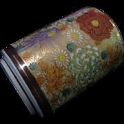 Japanese Gilded Chrysanthemum and Peony Single Serve Teacup by Kutani
