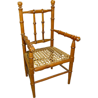 SALE Bamboo Style Chair with Woven Seat, WINTER SALE!