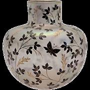 Josephinenhuette Fritz Heckert Glass vase Cypern