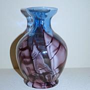 Kralik Bambus Seaweed glass vase in blue and purple