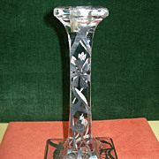 19th Century Crystal and Silver Candlestick