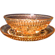 *Final Clearance ~ Pink Glass Serving Dish with Liner/ or Covered Butter