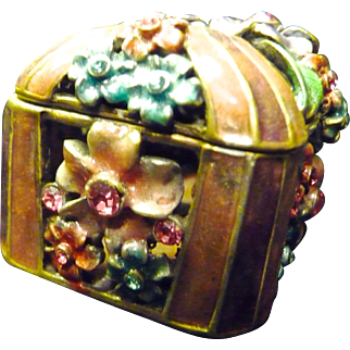 SALE *Final Clearance ~Rucinni Trunk Swarovski Trinket Box