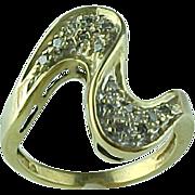Vintage Modernist Style Diamond Ring