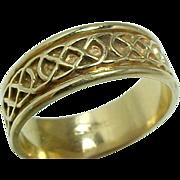Vintage 14 K Yellow Gold Celtic Rope Design Wedding Band