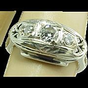 Art Deco 14k Diamond Engagement Ring, Circa 1920's Beautiful