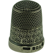 Antique British Sterling Silver Thimble