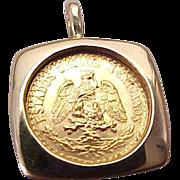1945 Dos Pesos (M) Estados Unidos Mexicanos Coin Pendant