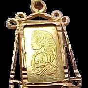 Lady Fortuna PAMP Suisse 1 gram Gold Bar Pendant