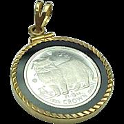 CROWN 1/10 Troy Ounce Platinum (Isle of Man) Pendant
