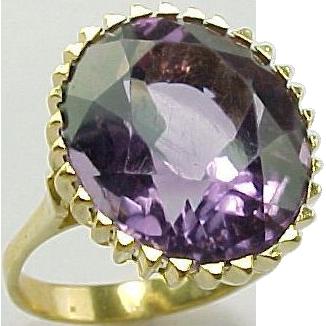 Item ID: 609 amethsyt ring In Shop Backroom