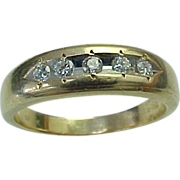 Unisex .50 Carat Diamond 14K Yellow Gold Band