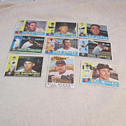 Vintage 1960 Topps Baseball Cards San Francisco Giants Set of 9 Cards