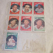 Vintage Topps Washington Senators 1959 Baseball Cards Set of 7 cards