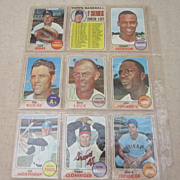 Vintage 1968 Topps Baseball Cards set of 9