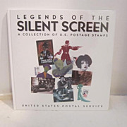 Vintage Legends of the Silent Screen Postage Stamps Book
