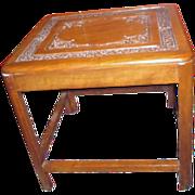 Hand Carved Teak Wood End Table
