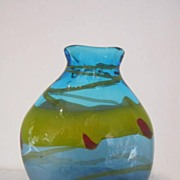 "Hand Blown  11 1/2"" Art Glass Vase"