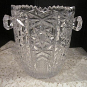 Vintage Cut Class Crystal Person Ice Bucket
