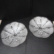 Vintage Pair of Clear Glass Small Footed Candy/Nut Dishes