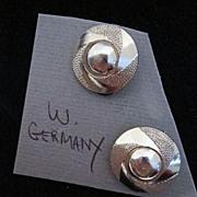 Vintage W. Germany Gold Tone Earrings