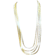 Four Strand Goldtone Chain Necklace