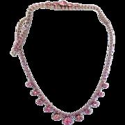 Pink Rhinestone Necklace and Bracelet
