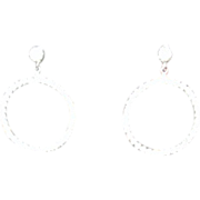 Rhinestone Earrings Dangling Circlet