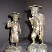 Antique Bronze Statue Man and Woman