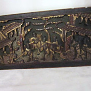 Antique Chinese Architectural Wood Panel