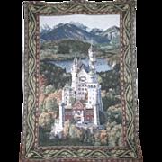 Hanging Wall Tapestry of Neuschwanstein Castle