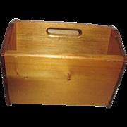 Oak Wood Portable Magazine Rack