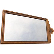 Gilted Wood Framed Mirror with Etched Design