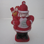 Vintage Rubber Santa Claus Bank
