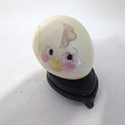"Vintage Porcelain Hand Decorated ""Chick"" Egg"