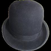 Wine Stiff Black Bowler (Derby) Hat