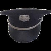 Gelhaar Dress Uniform Fire Department Hat with Brass Band