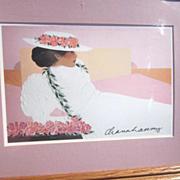 Framed Diana Hansen-Young Print of Young Hawaiian Woman