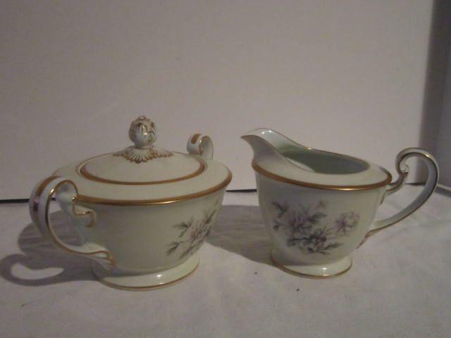 Vintage Noritake Ceramic Cream and Sugar Set