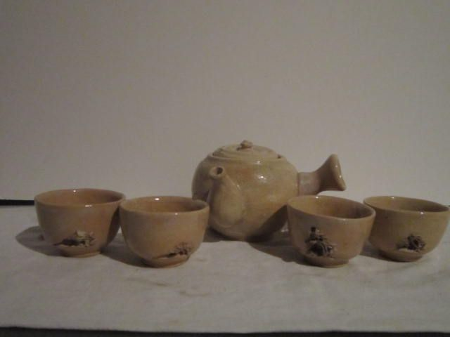 5 Piece Oriental Pottery Tea Set