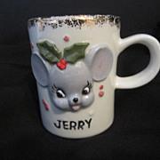 Vintage Christmas Mouse Mug
