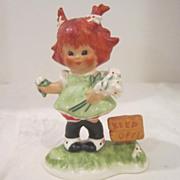 Vintage Red-Headed Goebel Figurine from West Germany