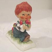 Vintage Red Headed Goebel Figurine from West Germany