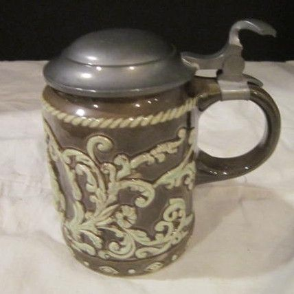 Vintage Stein with Pewter Top Gouda