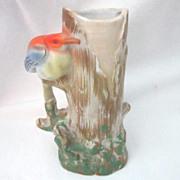 Ceramic Bird and Tree Vase Made in Japan