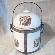 Japanese Porcelain and Metal Lunch Carrier