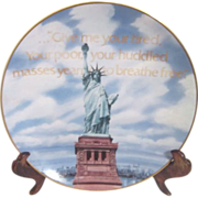 Gorham Limited Edition Statue of Liberty Decorator Plate c1985