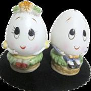 Mr. & Mrs. Humpty Dumpty Salt & Pepper Shakers