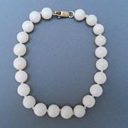 Pretty Vintage White Coral Bracelet